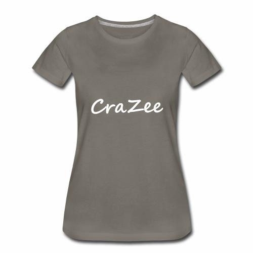CraZee White - Women's Premium T-Shirt