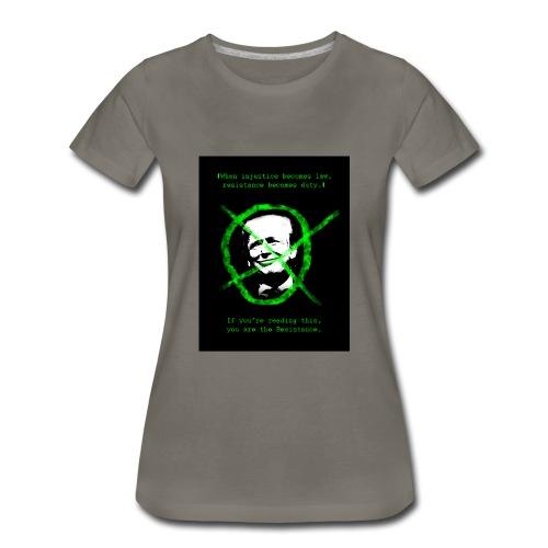 Anti Donald Trump Resistance Election 2016 T-shirt - Women's Premium T-Shirt
