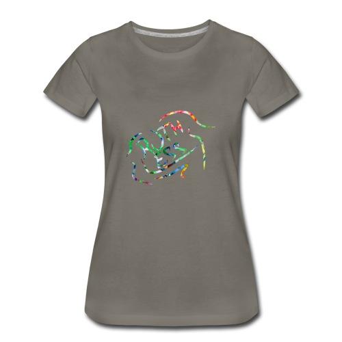Flower Signature Black - Women's Premium T-Shirt