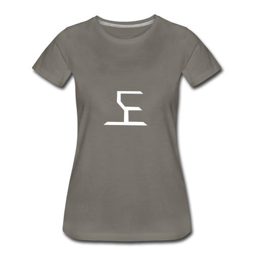 white SaKe logo - Women's Premium T-Shirt