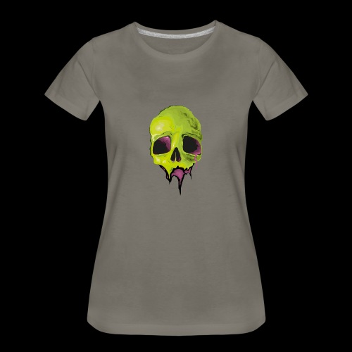 Undead Skull Design - Women's Premium T-Shirt