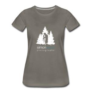 Logo Simon Lajoie Photographe Blanc - T-shirt premium pour femmes