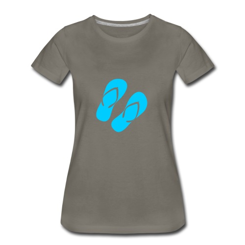 Blue Flip Flops - Women's Premium T-Shirt