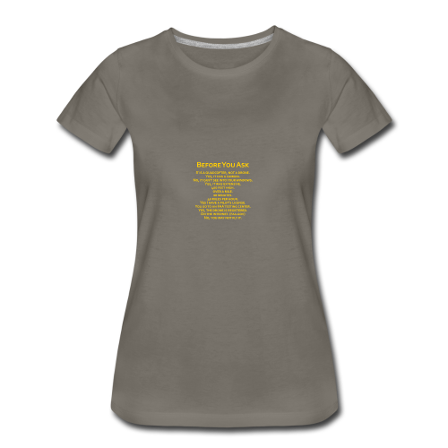 tshirt_pilotVersion_nologo_gold - Women's Premium T-Shirt