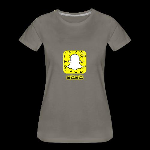 Alden's Snapchat - Women's Premium T-Shirt