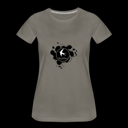 BlackBird Ink Spill Logo - Women's Premium T-Shirt