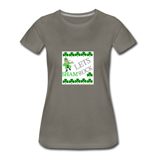 LEPRECHAUN LETS rock - Women's Premium T-Shirt
