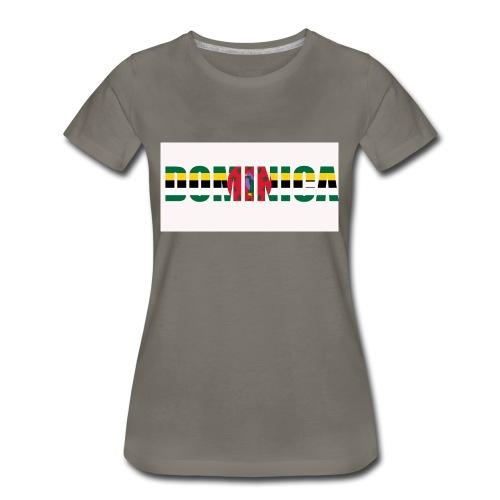Flag of Dominica - Women's Premium T-Shirt