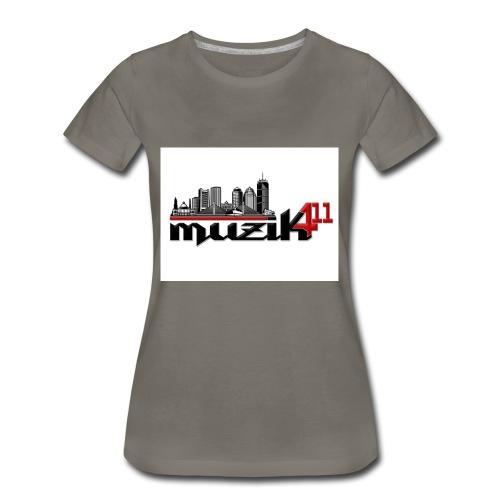 Muzik411 Logo - Women's Premium T-Shirt