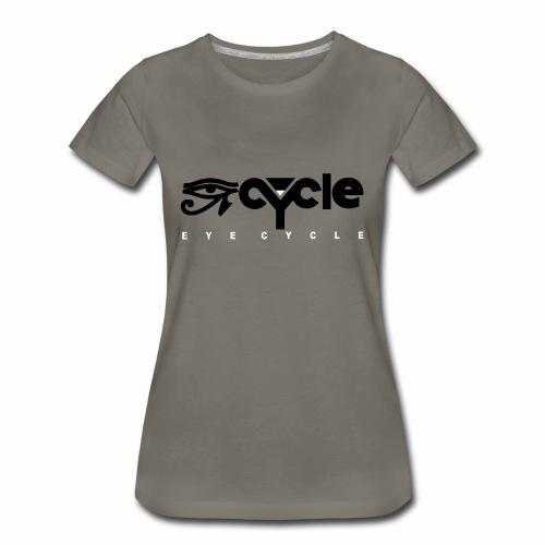 EYE CYYCLE BLACK N WHITE FLAT - Women's Premium T-Shirt