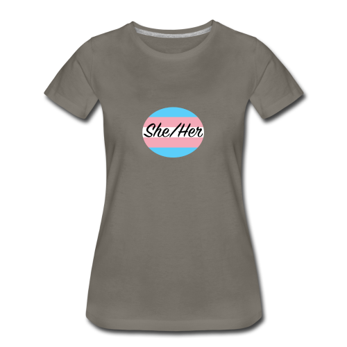 She/Her - Women's Premium T-Shirt