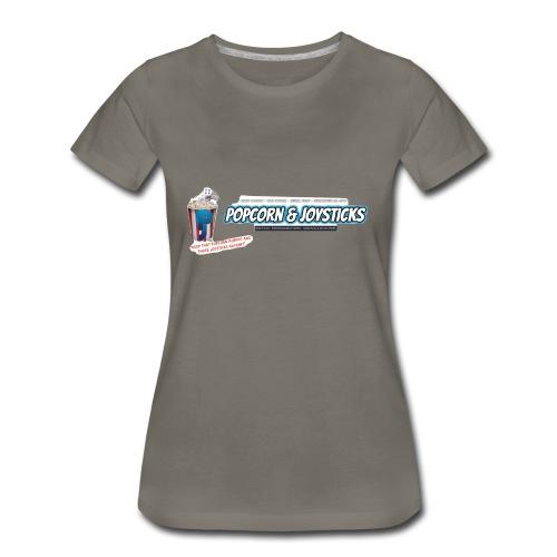 Popcorn and Joysticks Banner - Women's Premium T-Shirt