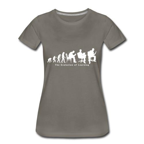 Learning_Evolution_White - Women's Premium T-Shirt
