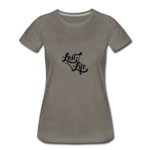 Lost in Life Black on Light - Women's Premium T-Shirt