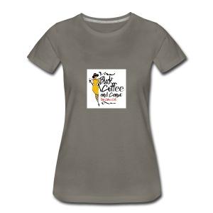 BLACK COFFEE AND COFFEE LOGO - Women's Premium T-Shirt