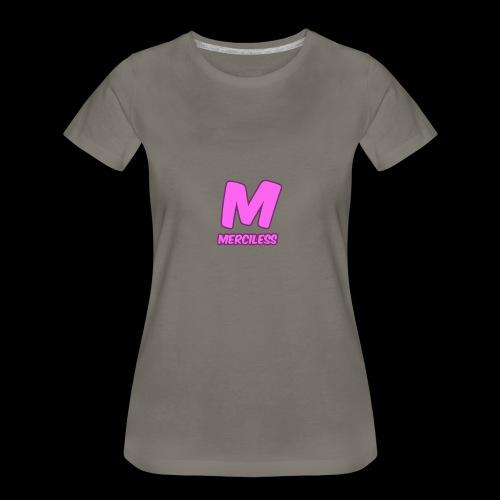 MercilessApparel pink logo - Women's Premium T-Shirt