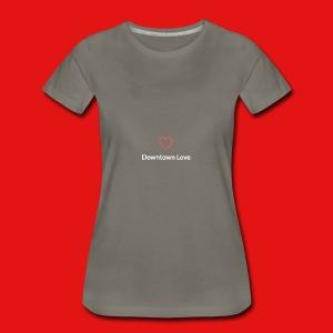 Downtown Love logo - White - Women's Premium T-Shirt