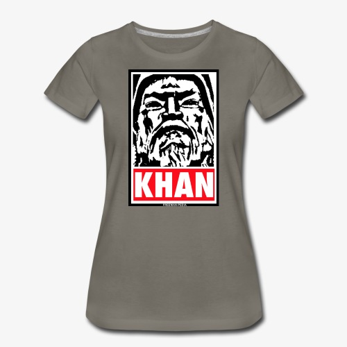 Obedient Khan - Women's Premium T-Shirt