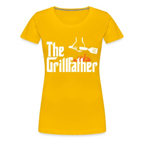 The Grillfather - Women's Premium T-Shirt