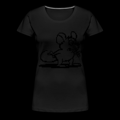 my neon blue mouse by bmx3r - Women's Premium T-Shirt
