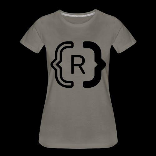 square black reswitched R logo bmx3r - Women's Premium T-Shirt
