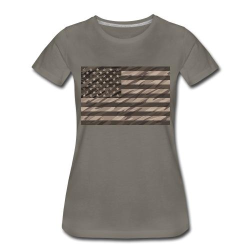 desert cammo flag t - Women's Premium T-Shirt