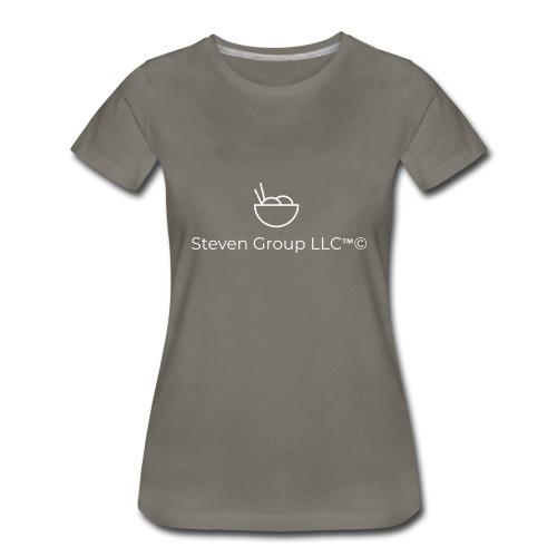 Steven Group LLC logo white - Women's Premium T-Shirt