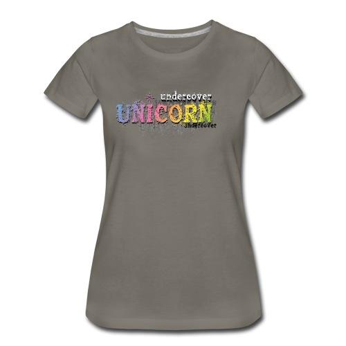 Undercover Unicorn - Women's Premium T-Shirt