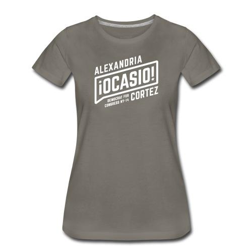alexandria ocasio cortez art - Women's Premium T-Shirt