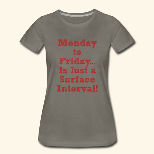 Scuba-Monday to Friday is just a Surface Interval - Women's Premium T-Shirt