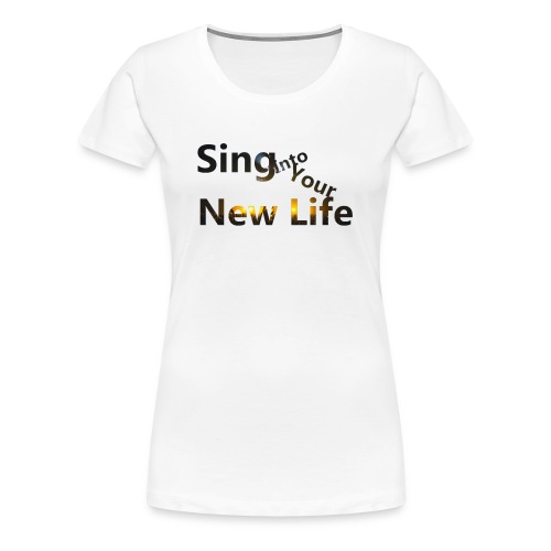 Sing in Brown - Women's Premium T-Shirt