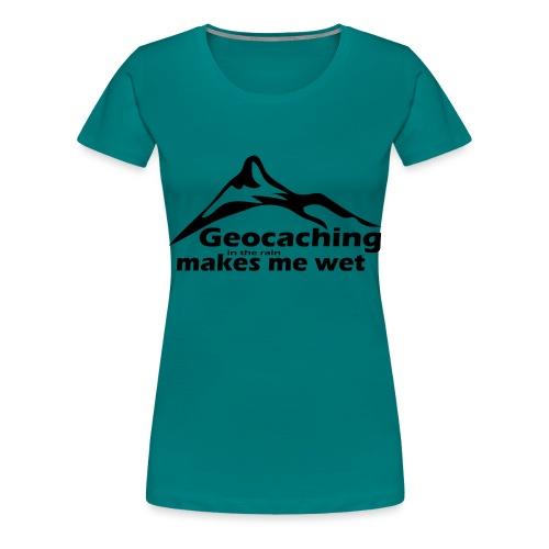 Wet Geocaching - Women's Premium T-Shirt