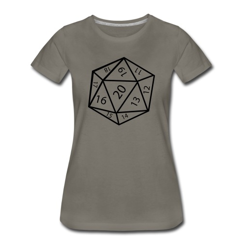 20_sided_dice - Women's Premium T-Shirt