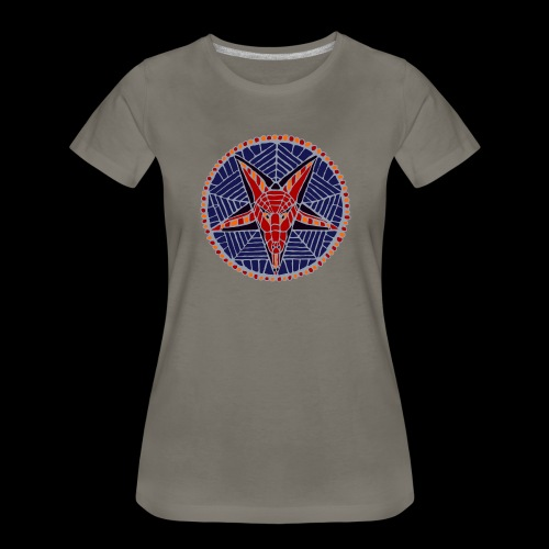 Corpsewood Stained-Glass Baphomet - Women's Premium T-Shirt
