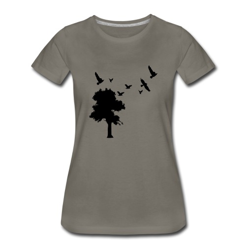 BIG trees & birds - Women's Premium T-Shirt