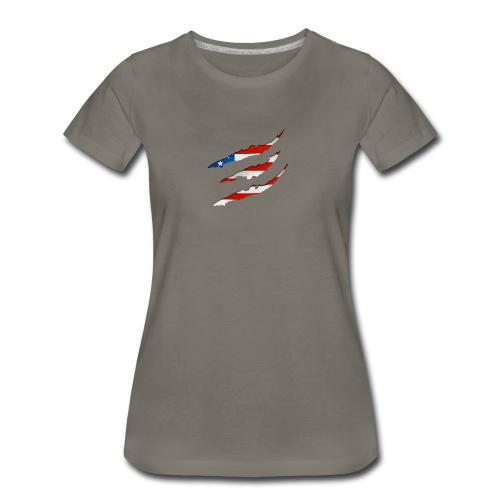 3D American Flag Claw Marks T-shirt for Men - Women's Premium T-Shirt