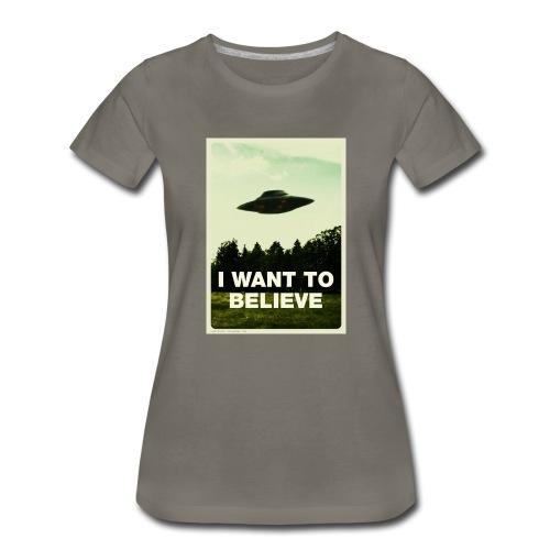 i want to believe (t-shirt) - Women's Premium T-Shirt