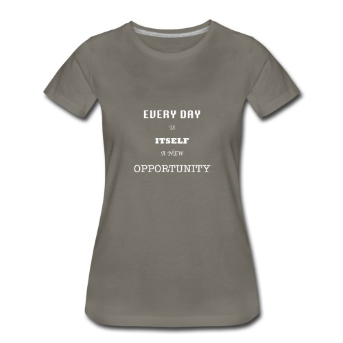 Opportunity (in White) - Women's Premium T-Shirt