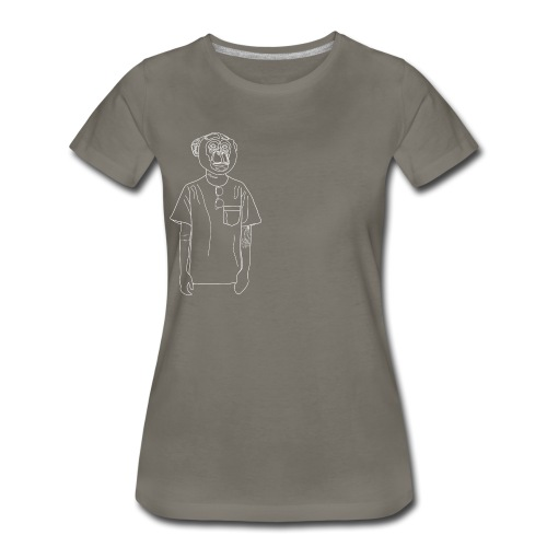 Hipster Monkey - Women's Premium T-Shirt