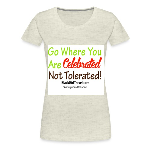 Plain celebrated jpg - Women's Premium T-Shirt