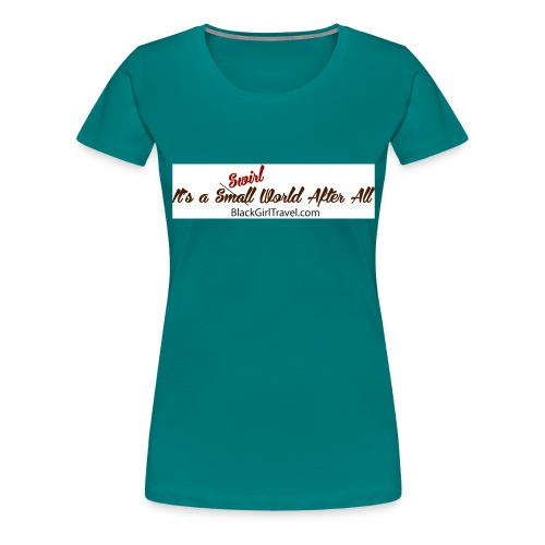 Plain Small World jpg - Women's Premium T-Shirt