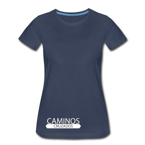 caminos cruzados logo blanco - Women's Premium T-Shirt