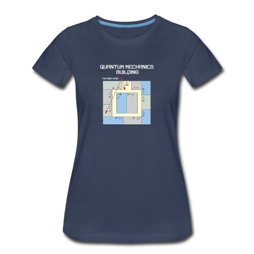 Colorful Quantum Building White Text - Women's Premium T-Shirt