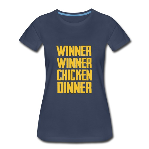 PUBG Chicken Dinner - Women's Premium T-Shirt
