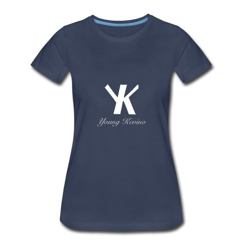 Young Kevino Official Logo (White) - Women's Premium T-Shirt