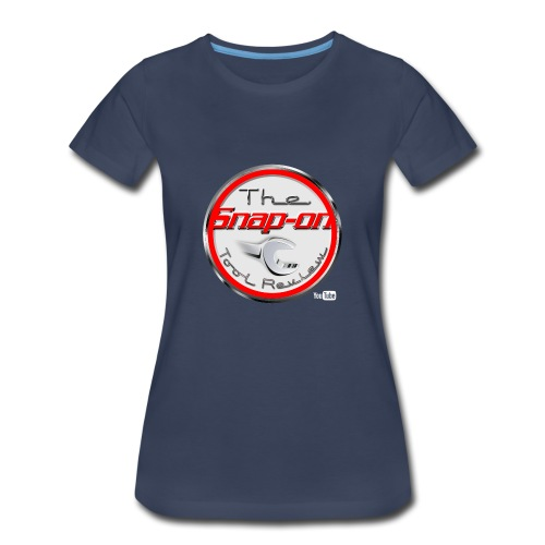 red logo white youtube - Women's Premium T-Shirt