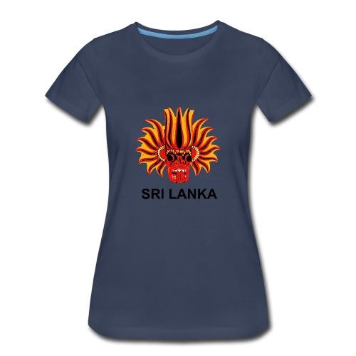 Sri Lanka Mask - Women's Premium T-Shirt