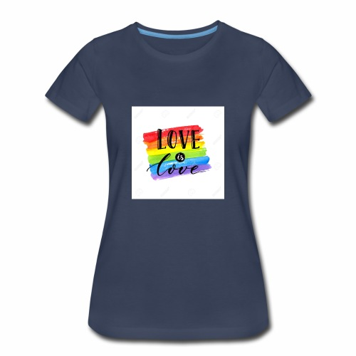 80598120 love is love lgbt pride slogan against ho - Women's Premium T-Shirt