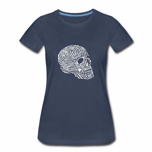 Skull Human Fingerprint Funny - Women's Premium T-Shirt