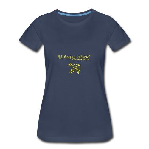 Full Li Huan Chao Logo Black+Yellow - Women's Premium T-Shirt